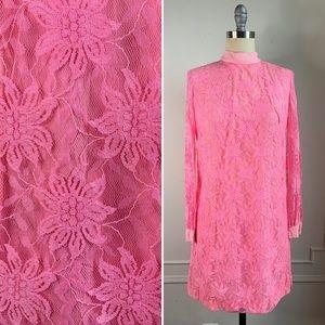 Vintage Mod Pink Shift Dress